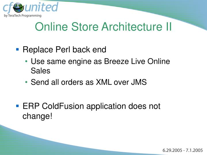 Online Store Architecture II
