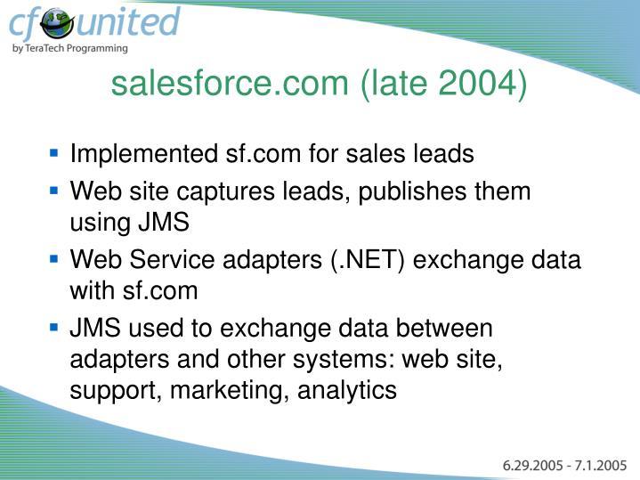 salesforce.com (late 2004)