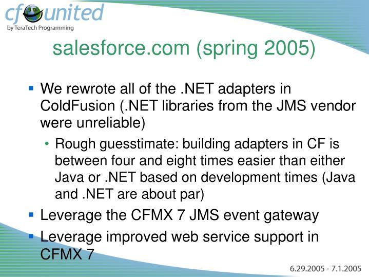 salesforce.com (spring 2005)
