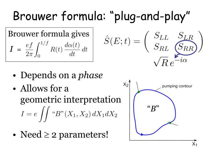 Brouwer formula gives