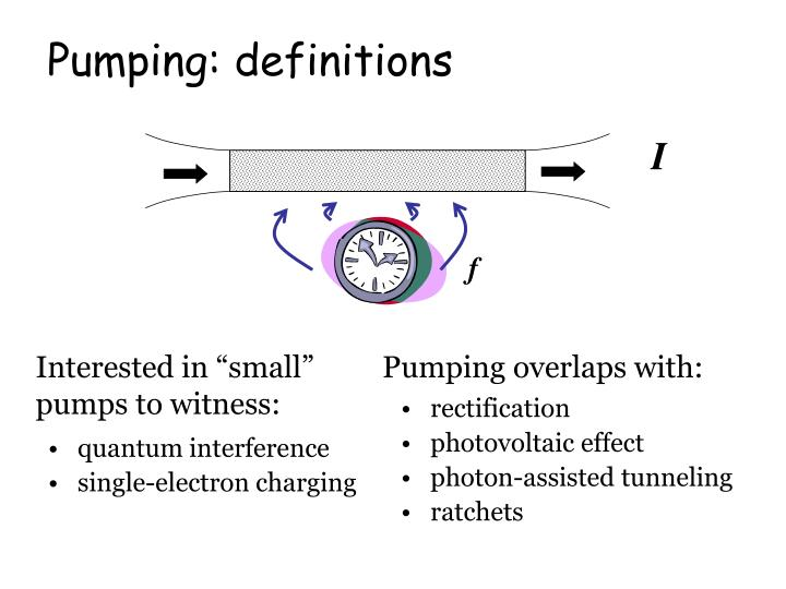 Pumping definitions