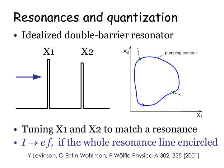 Resonances and quantization