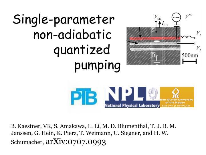 Single-parameter