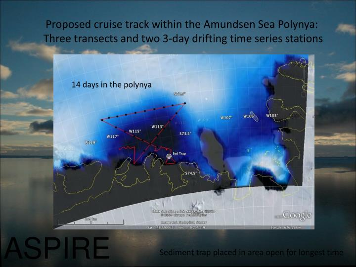 Proposed cruise track within the Amundsen Sea Polynya: