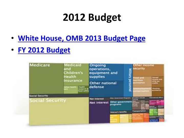 2012 Budget