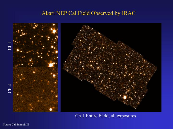 Akari NEP Cal Field Observed by IRAC