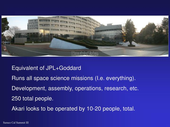 Equivalent of JPL+Goddard