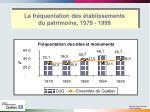 la fr quentation des tablissements du patrimoine 1979 19994