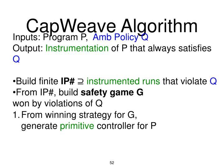CapWeave Algorithm