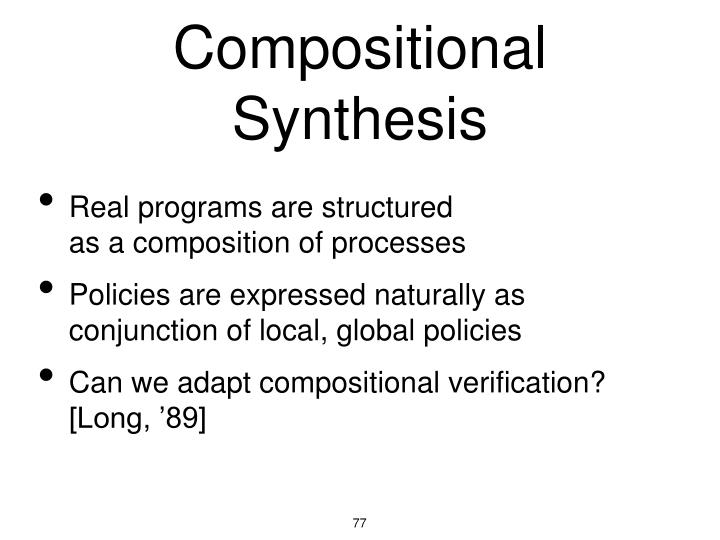 Compositional Synthesis