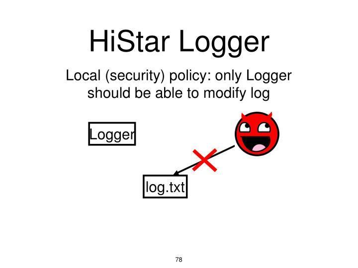 HiStar Logger