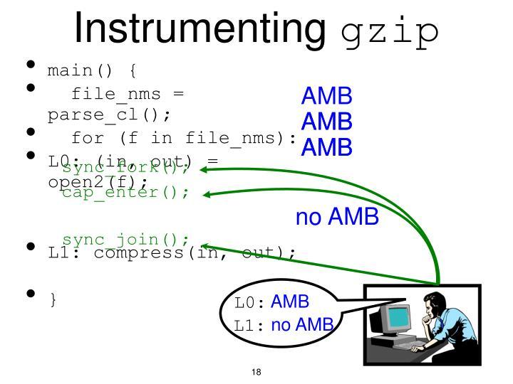 Instrumenting