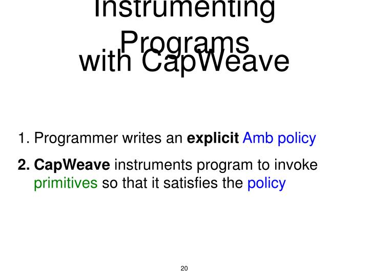 with CapWeave