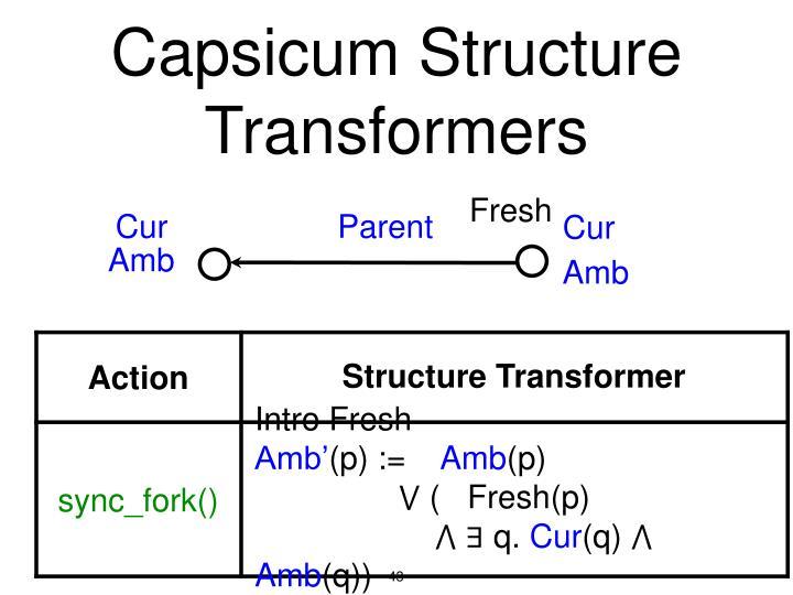 Capsicum Structure Transformers