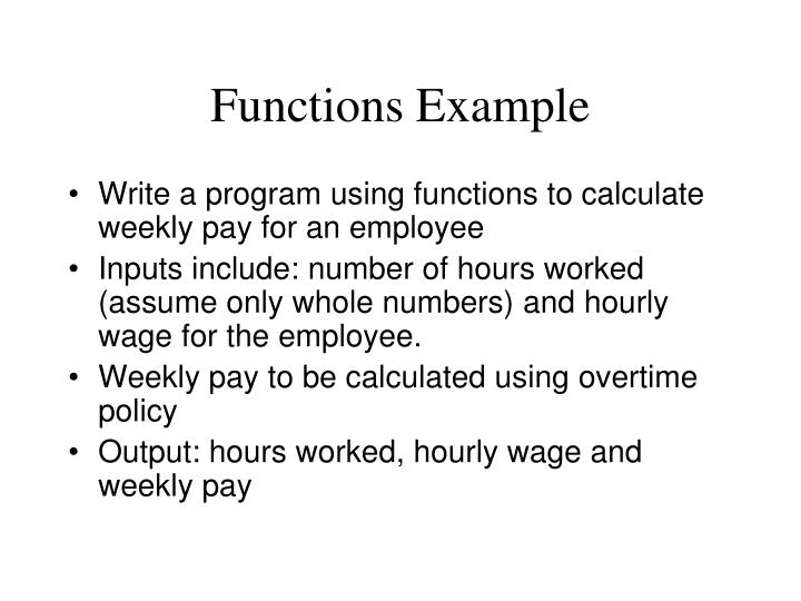 Functions Example