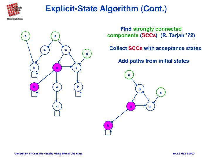 Explicit-State Algorithm (Cont.)