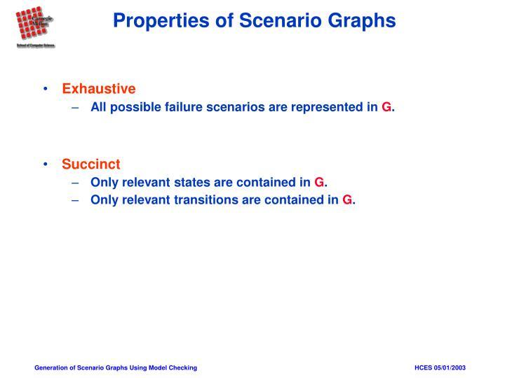 Properties of Scenario Graphs