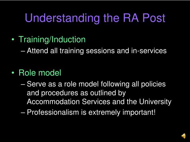 Understanding the RA Post