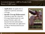 livestock insurance lrp for feeder cattle basics of lrp cont