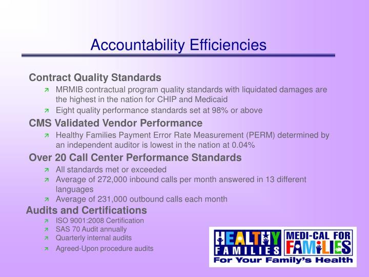 Accountability Efficiencies