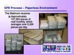 spe process paperless environment