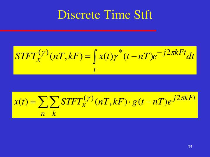 Discrete Time Stft