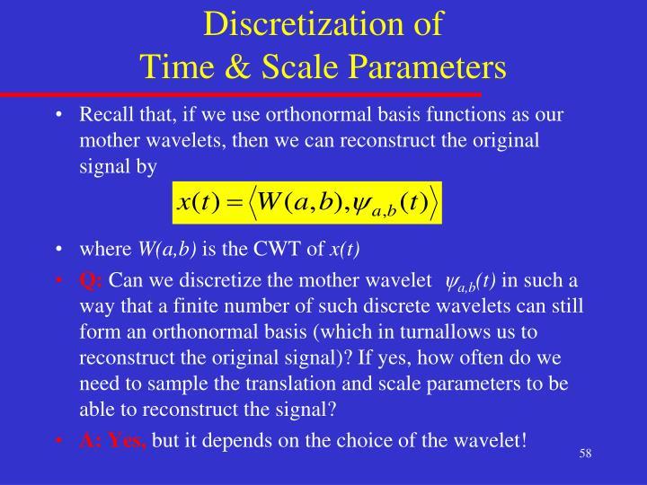 Discretization of