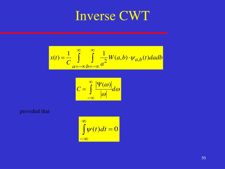 Inverse CWT