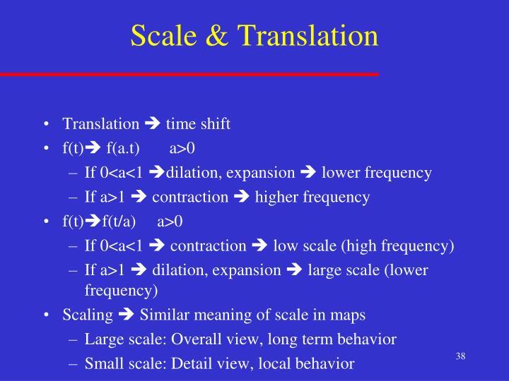 Scale & Translation