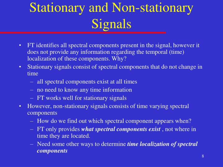 Stationary and Non-stationary Signals