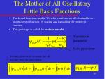 the mother of all oscillatory little basis functions