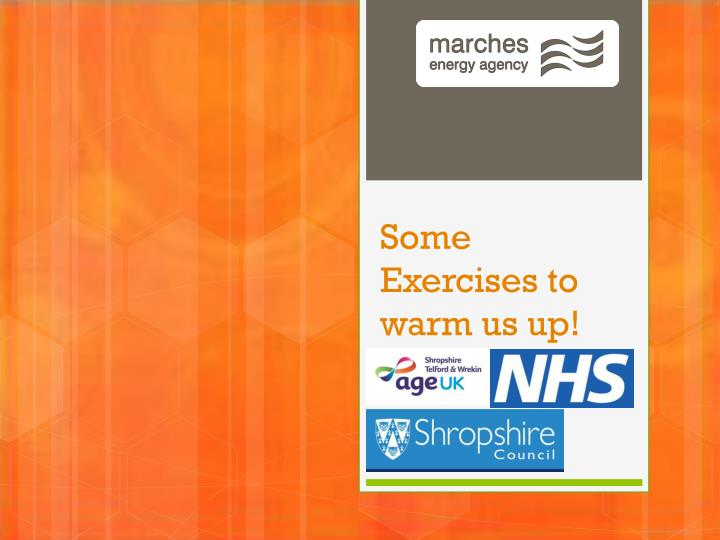 Some Exercises to warm us up!