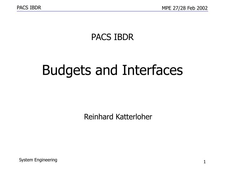PACS IBDR