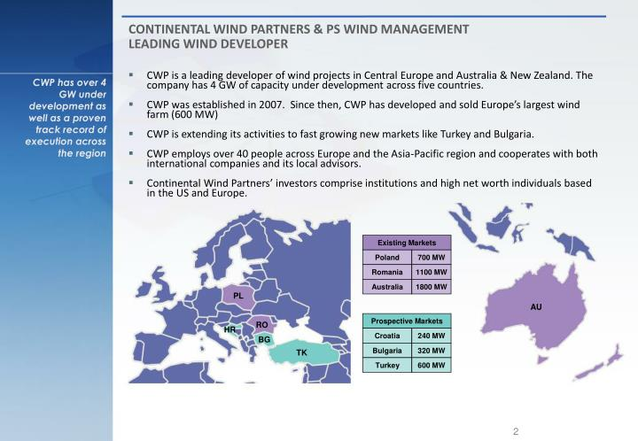 CONTINENTAL WIND PARTNERS