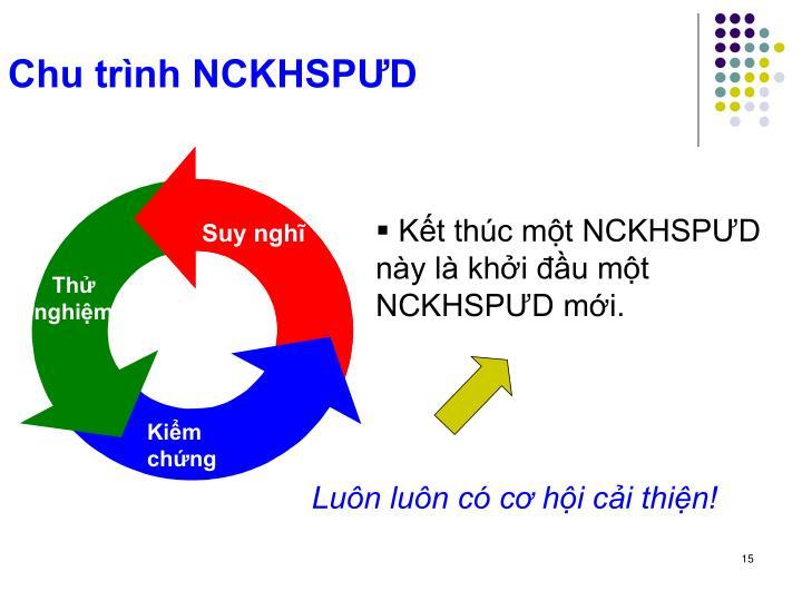 Chu trình NCKHSPƯD