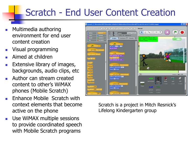 Scratch - End User Content Creation