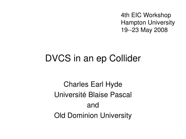 Dvcs in an ep collider