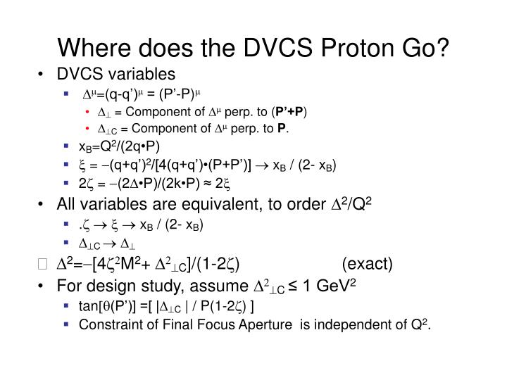 Where does the DVCS Proton Go?