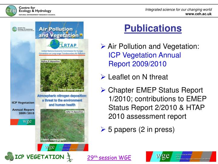 ICP VEGETATION