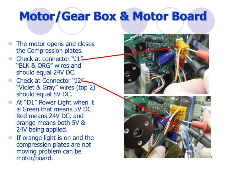 Motor/Gear Box & Motor Board