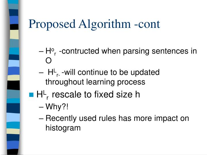 Proposed Algorithm -cont