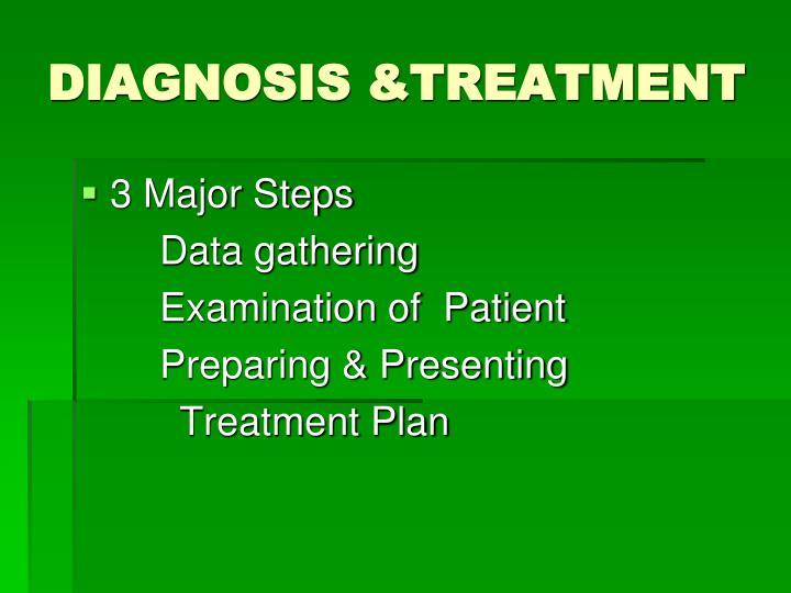 DIAGNOSIS &TREATMENT