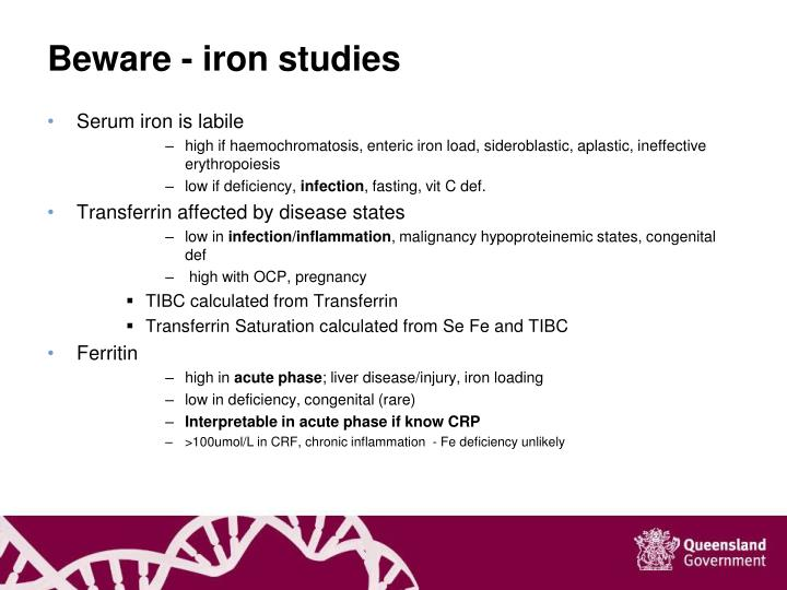 Beware - iron studies