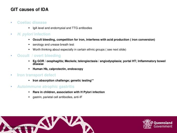 GIT causes of IDA