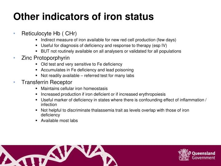 Other indicators of iron status