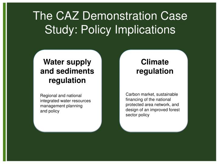 The CAZ Demonstration Case Study: Policy Implications