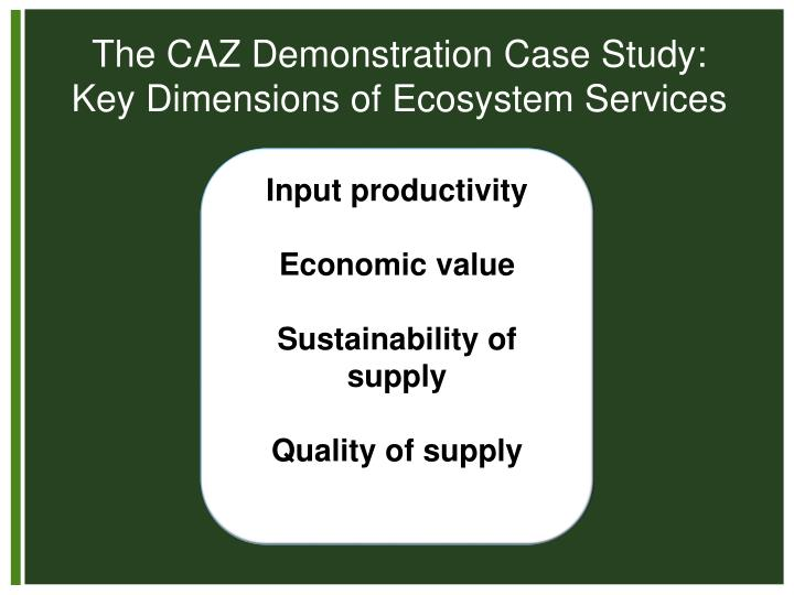 The CAZ Demonstration Case Study: