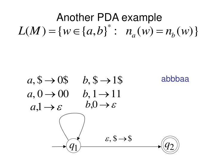 Another PDA example
