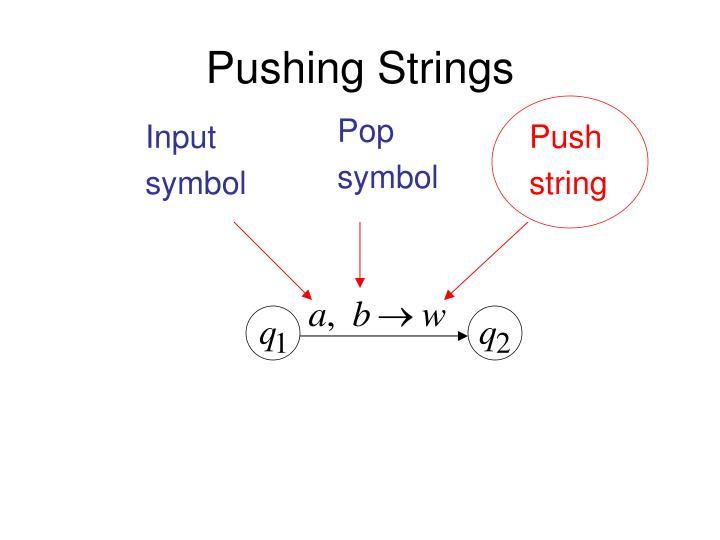 Pushing Strings