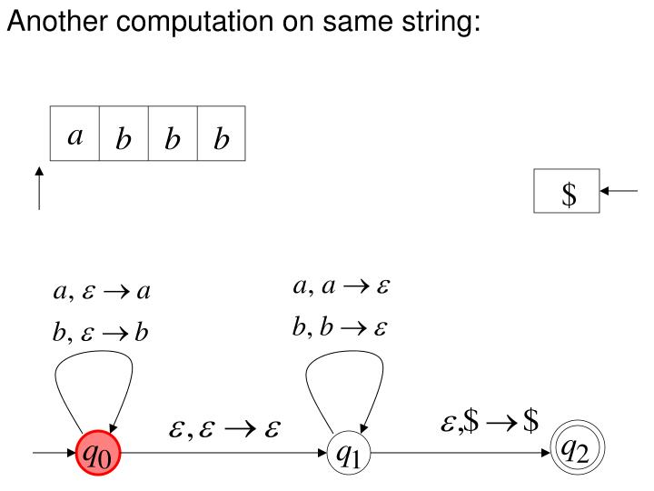 Another computation on same string:
